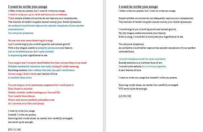 Poem edit